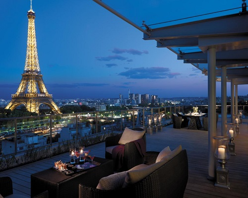 Shangri La, Paris restaurant view-resized